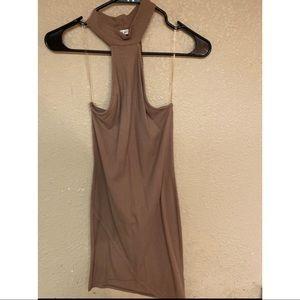 Nude collar Dress